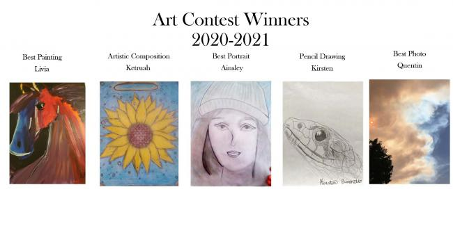 Winners of the 2020 Art Contest